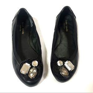 Kate Spade Black Jewel Flats